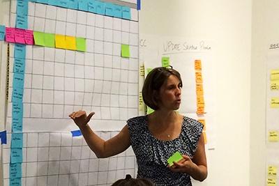Melissa McEwen facilitates a lean session