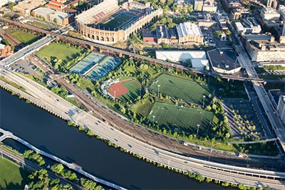 Aerial view of Penn Park