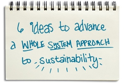 Six ideas to advance a whole system approach to sustainability
